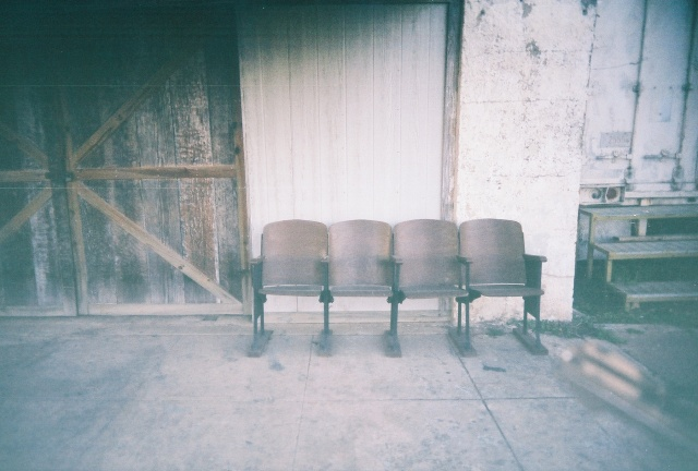 Old theater seats in a small Texas town