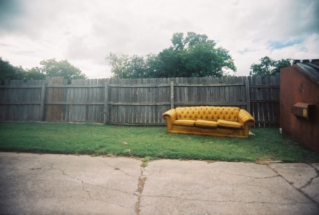 lonely yellow couch