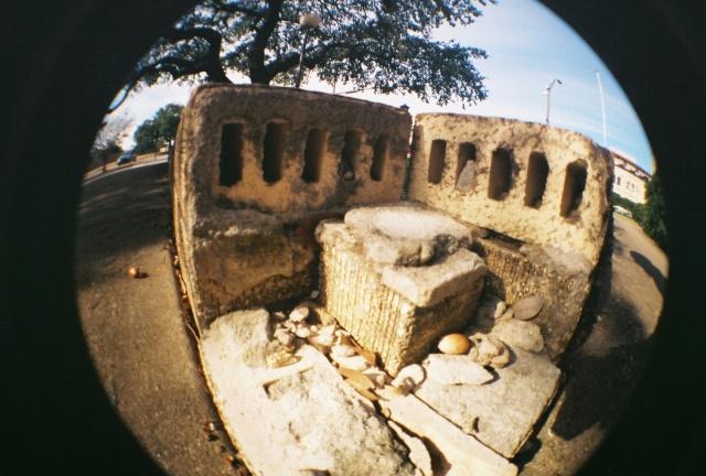 crumbled bricks