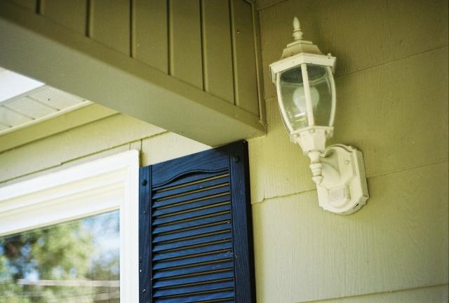 the porch light
