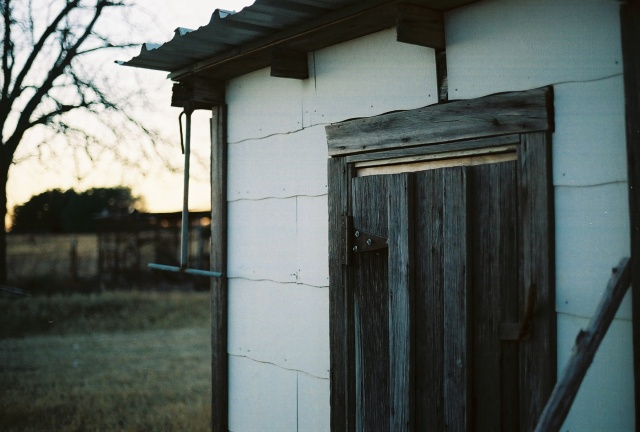 the door to our well house at the farm