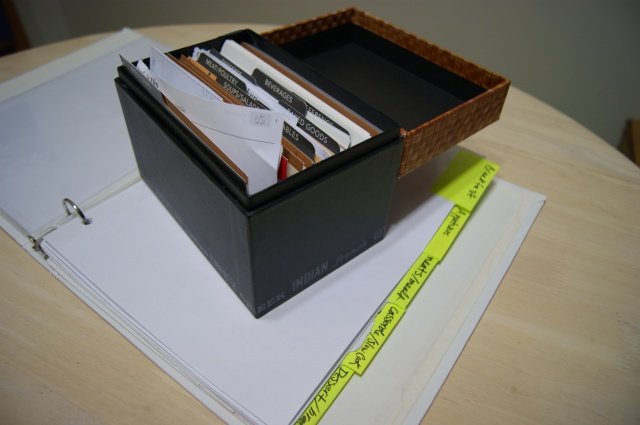 My recipe binder and box