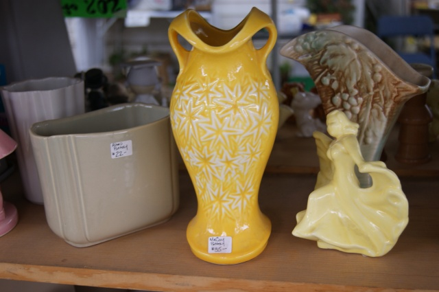 a yellow vase in Round Top