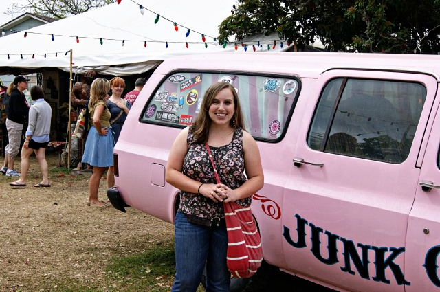 Me with the Junk Gypsy shop in Round Top