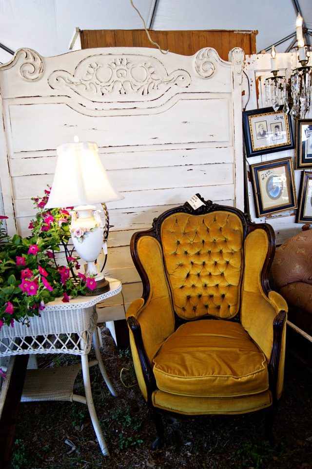 a beautiful vintage chair at Round Top