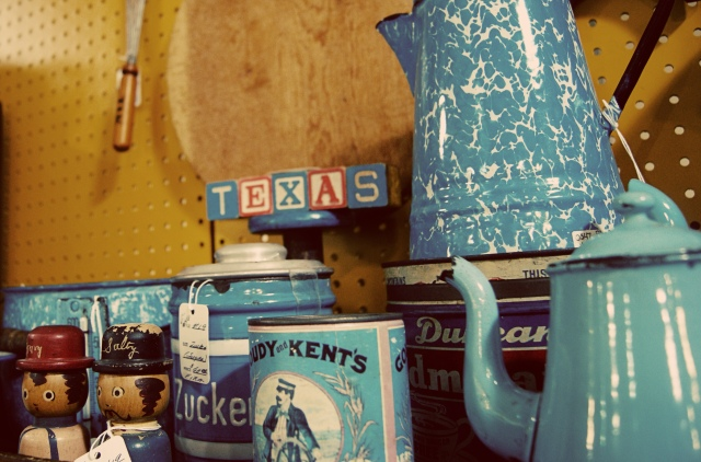 blue wares in Round Top