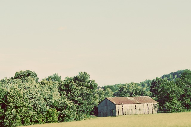 A barn in the country somewhere in Kentucky or West Virginia