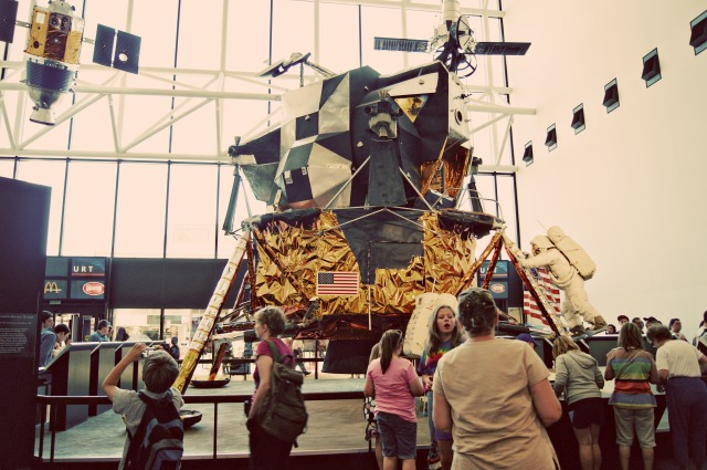 a lunar lander at the national air and space museum