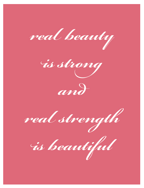 real beauty strength printable