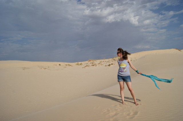 Sydney at the sandhills