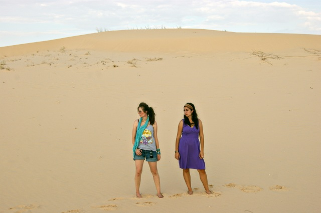 Syd and Megh at the sandhills