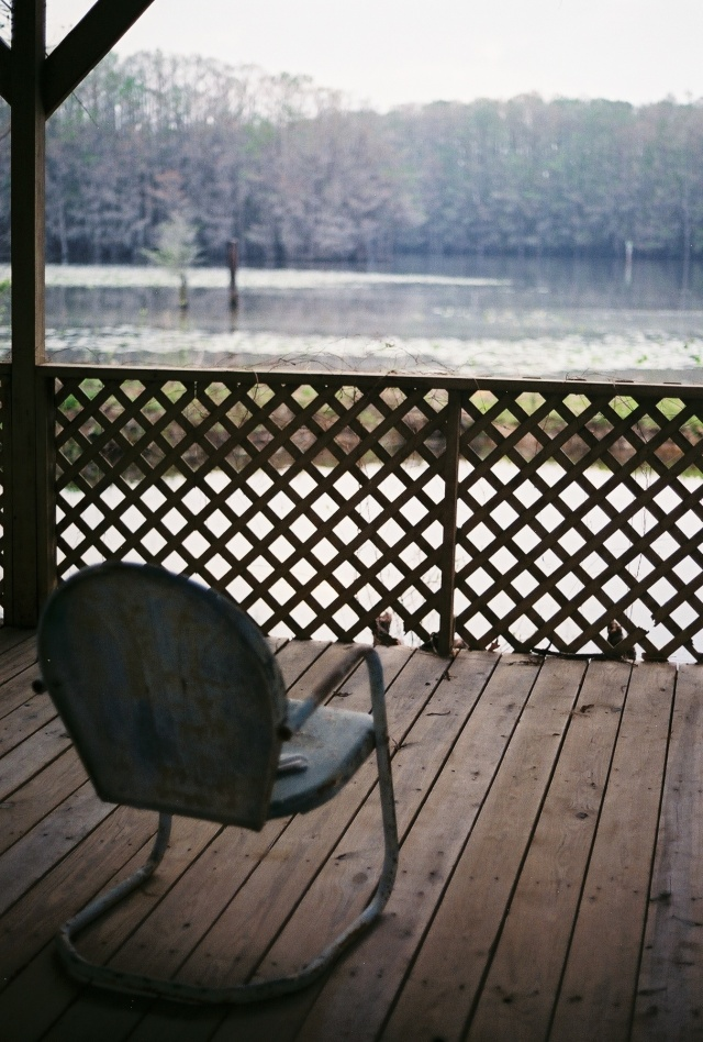 deck chair at Caddo Lake, Texas