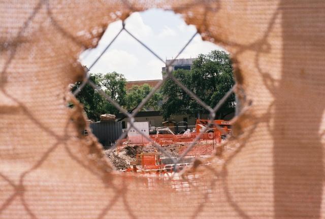 construction fence Sept 2010