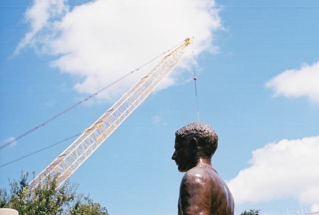 12th Man statue Sept. 2010