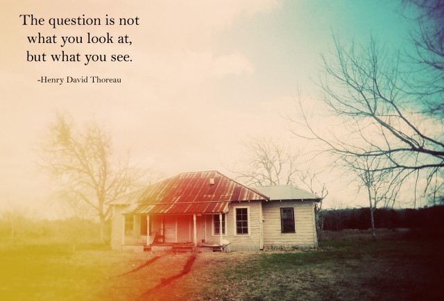 house with what you see quote