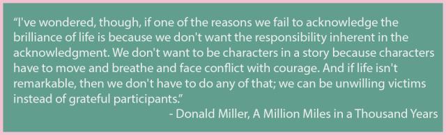 Donald Miller quote